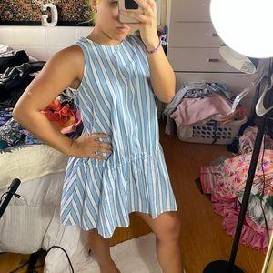 ZARA Blue and white striped mini dress